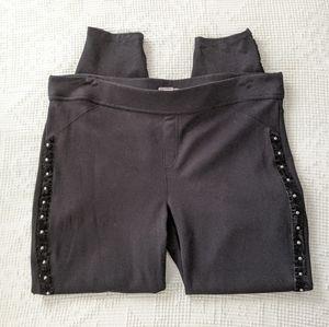 Maurices Rockstar Studded Skinny Black Jeggings XL